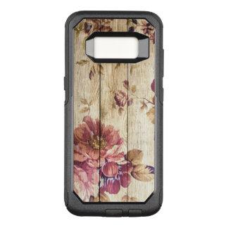 木のヴィンテージのロマンチックなバラ オッターボックスコミューターSamsung GALAXY S8 ケース