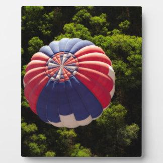 木の上で風船のようにふくらむ熱気の気球 フォトプラーク