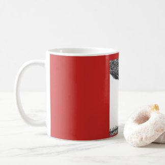 木の下の男の子そして犬 コーヒーマグカップ