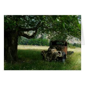 木の下の祖父のトラック カード