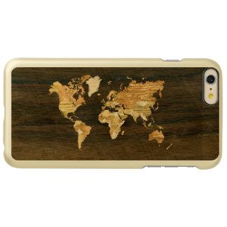 木の世界地図 INCIPIO FEATHER SHINE iPhone 6 PLUSケース