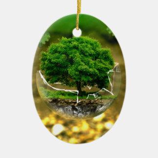 木の保護 セラミックオーナメント