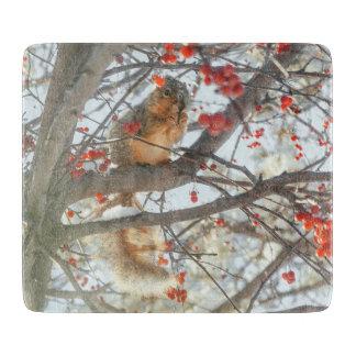 木の写真のリス カッティングボード