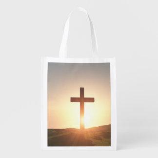 木の十字のバッグ エコバッグ