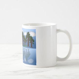 木の反射 コーヒーマグカップ