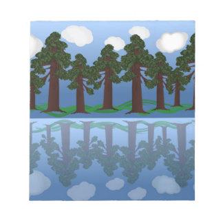 木の反射 ノートパッド