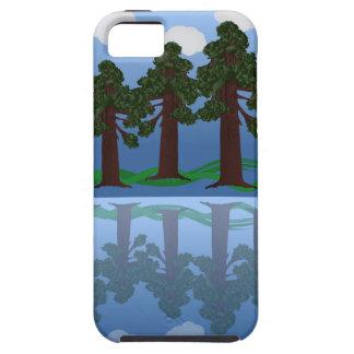 木の反射 iPhone SE/5/5s ケース