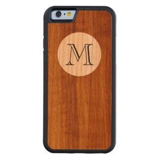 木の名前入りなMの大文字 CarvedチェリーiPhone 6バンパーケース