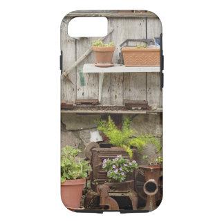 木の塀、Catalinaの島の装飾、 iPhone 8/7ケース