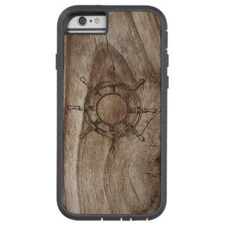 木の壁の舵輪の車輪 TOUGH XTREME iPhone 6 ケース