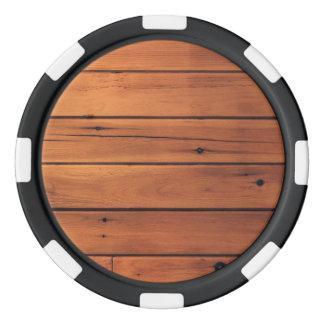 木の壁 ポーカーチップ