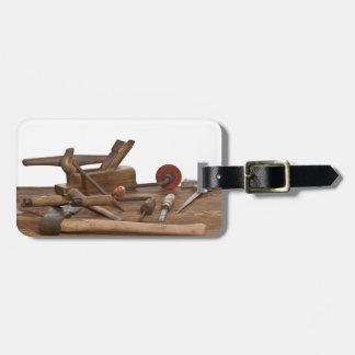 木の大工用具 ラゲッジタグ
