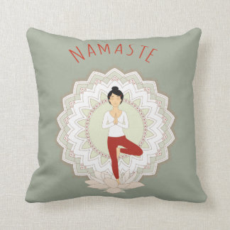 木の姿勢のナマステ-ヨガのAsanaの枕 クッション