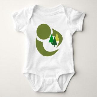 木の子供を保護して下さい ベビーボディスーツ