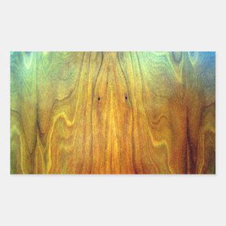 木の家具のインテリア・デザインの質 長方形シール