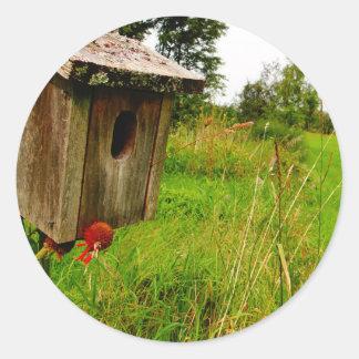 木の巣箱 ラウンドシール