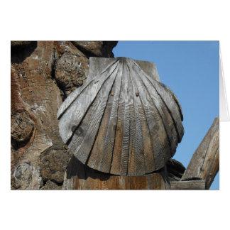 木の帆立貝のマーカー、セントジェームズ、スペインの方法 カード