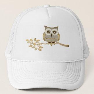 木の帽子の広い目のフクロウ キャップ