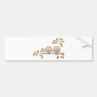 木の愛フクロウ バンパーステッカー