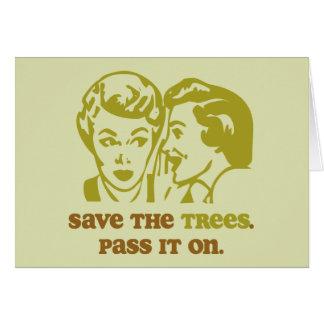 木の挨拶状を救って下さい カード