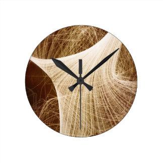 木の星明かりの夜 ラウンド壁時計