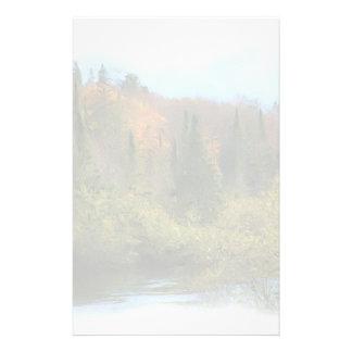 木の景色の秋の白熱 便箋