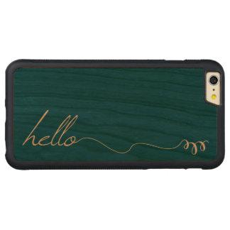 木の木製色の緑こんにちは CarvedチェリーiPhone 6 PLUSバンパーケース
