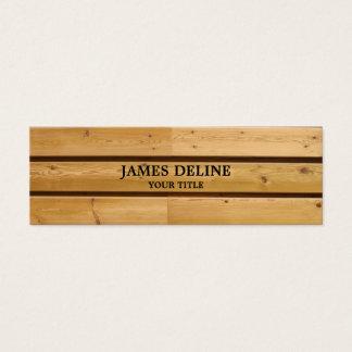 木の板の便利屋の建築 スキニー名刺