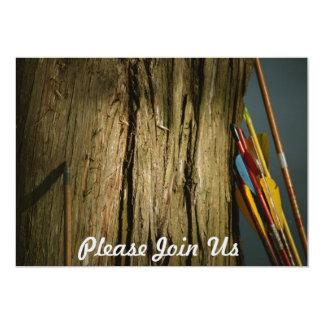 木の林業で傾く矢 カード