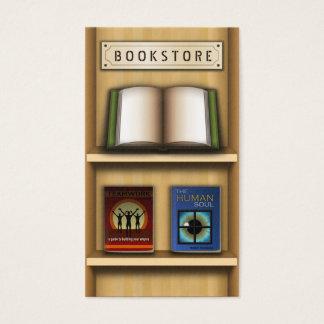 木の棚の書店の本屋の名刺 名刺