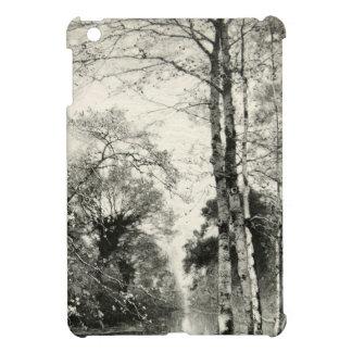 木の樺の木のヴィンテージの自然の枝Muntheのグラフィック iPad Mini カバー