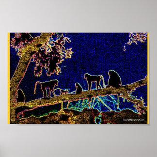 木の猿 ポスター
