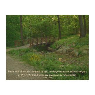 木の生命感動的な写真撮影の道 ウッドウォールアート