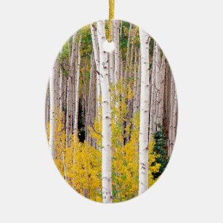木の秋の《植物》アスペンコロラド州 セラミックオーナメント