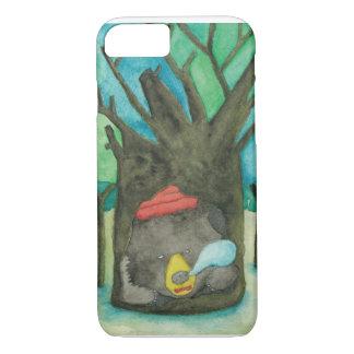 木の穴の睡眠くま iPhone 8/7ケース