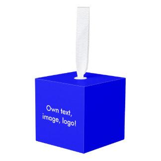 木の立方体のオーナメントの単ロイヤルブルー キューブオーナメント