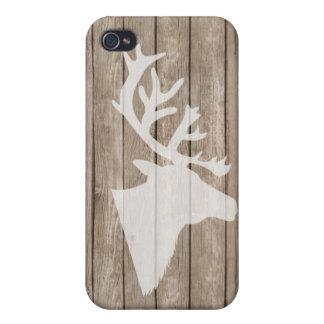 木の粋なシカの頭部 iPhone 4/4Sケース