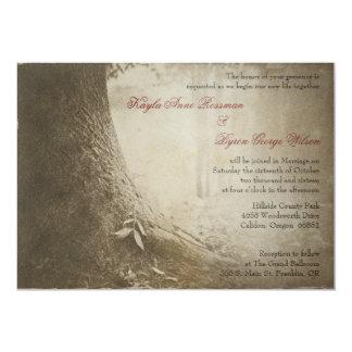 木の結婚式招待状のあなたの名前を書いて下さい カード