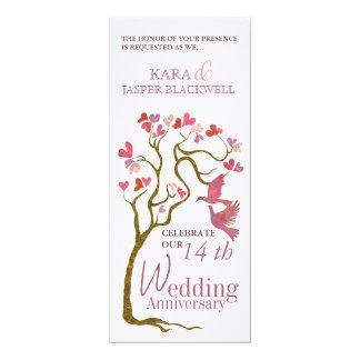 木の結婚記念日の招待状 カード