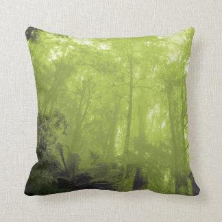 木の緑の写真枕の精神 クッション