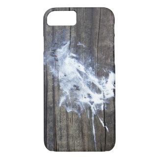 木の自然な芸術の鳥のウンチの糞 iPhone 8/7ケース
