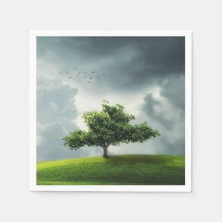 木の自然の景色 スタンダードカクテルナプキン