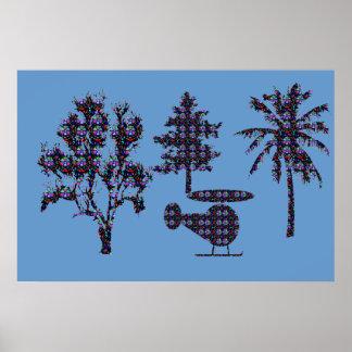 木の自然の美しい低価格のヘリコプターNVN605 ポスター