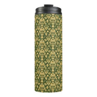 木の花のダマスク織パターン背景 タンブラー