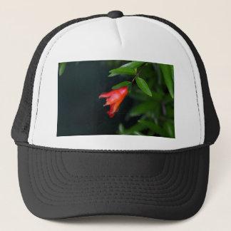 木の赤いザクロの花(ザクロ) キャップ