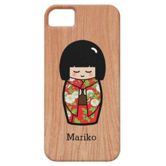 木の赤い着物のかわいいのKokeshiの日本のな人形 iPhone SE/5/5s ケース