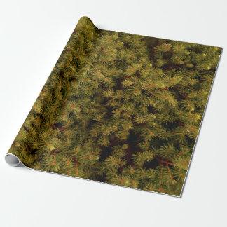 """木の針の包装紙、30"""" x 6' ラッピングペーパー"""