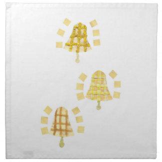 木の鐘の布のナプキン ナプキンクロス