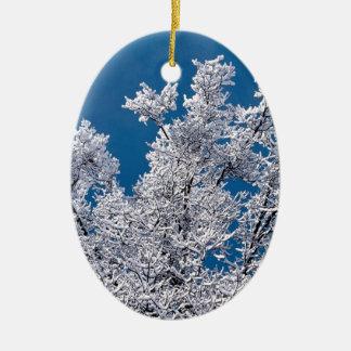 木の雪の枝ミネソタ セラミックオーナメント
