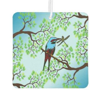 木の青い鳥 カーエアーフレッシュナー